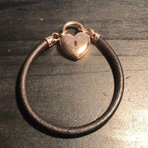 Bronze Milor Italy heart lock bracelet
